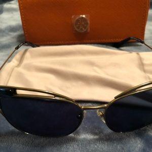 New Tory Burch cat eye sunglasses blue